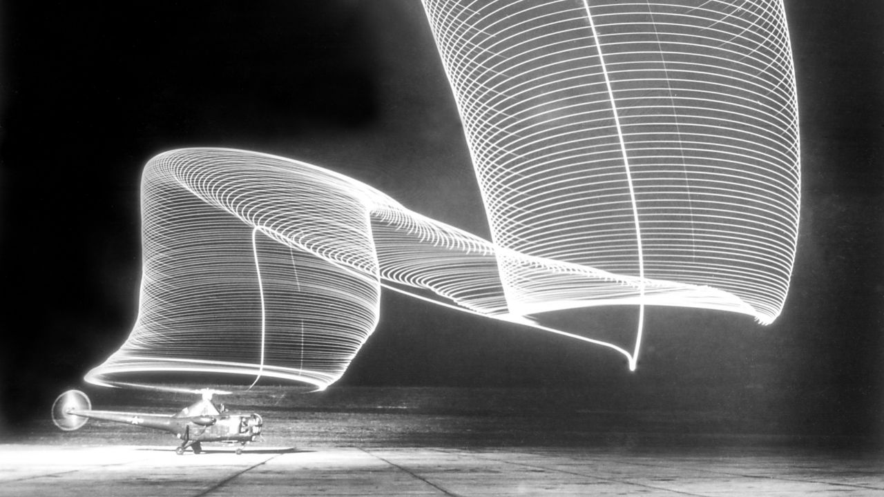 Andreas Feininger: Helicopter Take-off, 1949